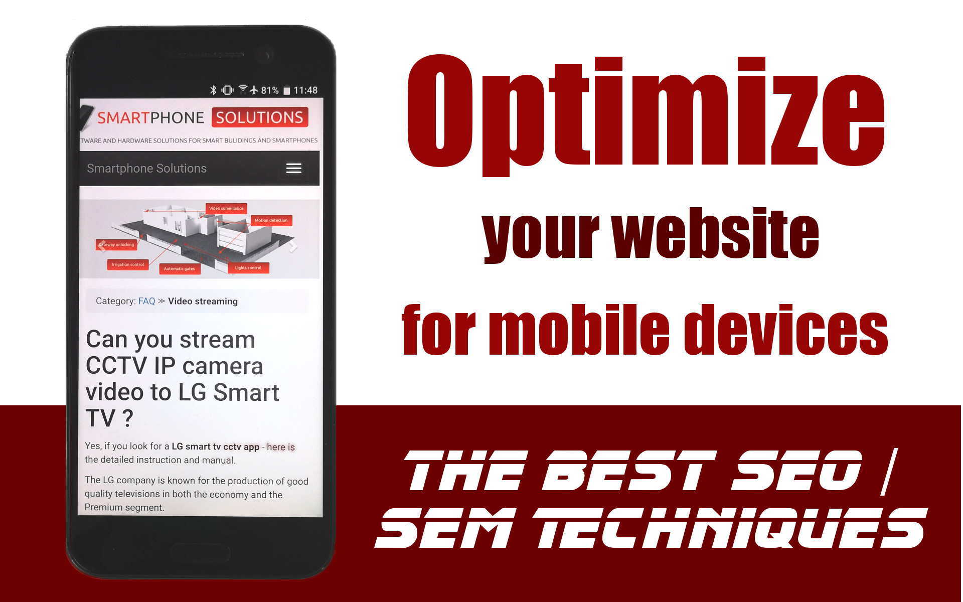 How to make mobile friendly version of the website